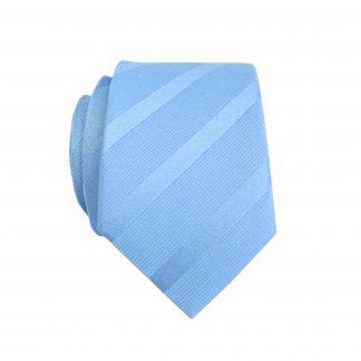 Light Blue Tone on Tone Stripe Skinny Men's Tie 10664-0