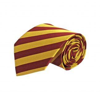 Burgundy, Gold Stripe Men's Tie 1066-0