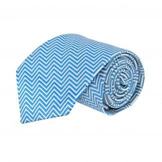 Blue, Gray Zig Zag Stripe Men's Tie 10816-0