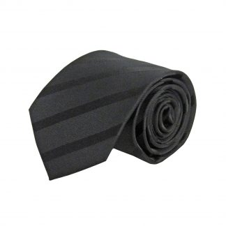 "63"" XL Black Tone on Tone Stripe Men's Tie 11208-0"