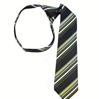 Mint Light Blue Navy Plaid Men's Tie