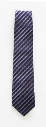 """49"""" Boys Purple/Dark Purple Stripe Tie 11385-0"""