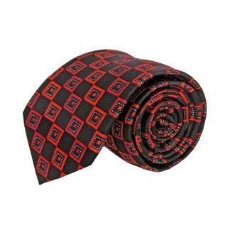 Red Black Square Men's Tie 1529-0