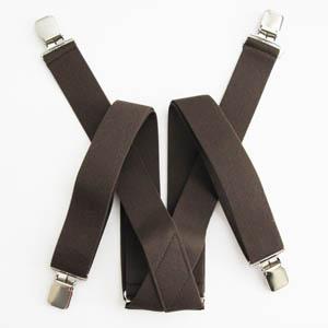 Brown Solid Suspenders 2042-0