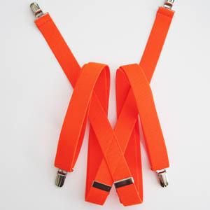 """Florescent Orange 1x48"""" Solid Suspenders 2063-0"""