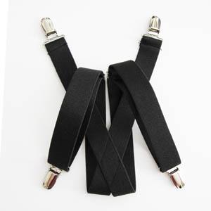 """Black Solid 1""""x30"""" Kids Suspenders 2080-0"""
