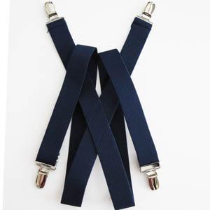 """Navy 1""""x30"""" Solid Kids Suspenders 2081-0"""