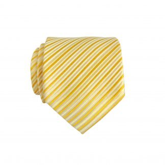Yellow/White Stripe Skinny Men's Tie 4380-0
