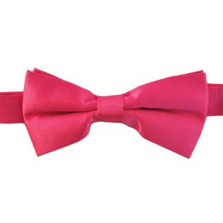 """Fucshia Solid 2"""" Banded Bow Tie 2932-0"""