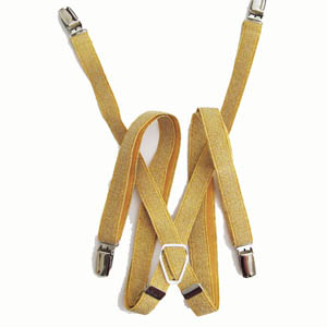 Gold-Glitter Suspenders 3400-0