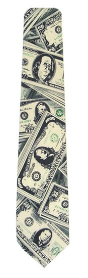 49'' Boy's Self Tie USA Money Tie 4059-0