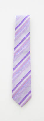 "49"" Boy's Lavender/Blue Stripes Tie 4174-0"
