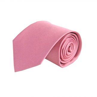 Pink, Rose Solid Silk Men's Tie 4215-0