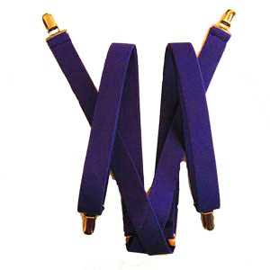 Dark Purple Solid Suspenders 4473-0