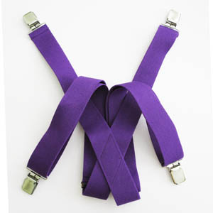 Dark Purple-Solid Suspenders 4485-0