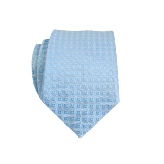 Light Blue/Diamond Tone on Tone Skinny Men's Tie 4556-0