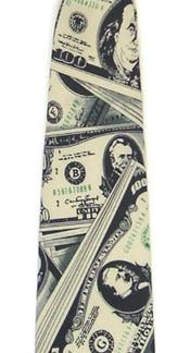 "11"" Boy's Clip-on US Money Microfiber Tie 4623-0"
