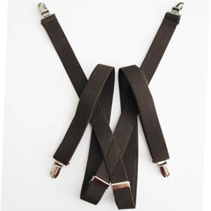 """Brown 1""""x48"""" Solid Suspenders 5344-0"""