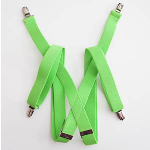 "Lime Solid 1x48"" Solid Suspenders 5345-0"