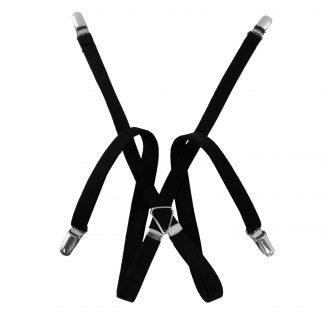 """1/2"""" Black Skinny Men's Suspenders 5354-0"""