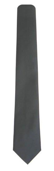 Black Skinny Solid Microfiber Men's Tie 5521-0