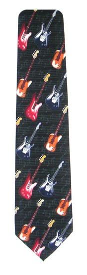 Electric Guitars Men's Tie 5910-0