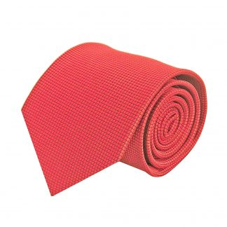 Red Solid Tone On Tone Small Squares Men's Tie 5923-0