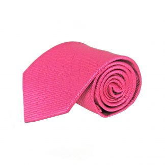 Fuchsia Solid Tone on Tone Small Rectangle Weave Men's Tie 5953-0