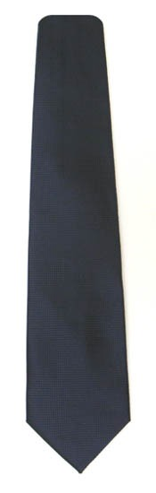 Navy Blue Solid Tone on Tone Small Squares Men's Tie 6166-0