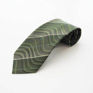Hunter Green, Lime, Black Swirl Men's Tie 7765-0