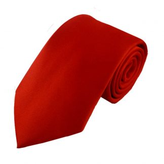 Red Solid Men's Tie w/ Pocket Square 7940