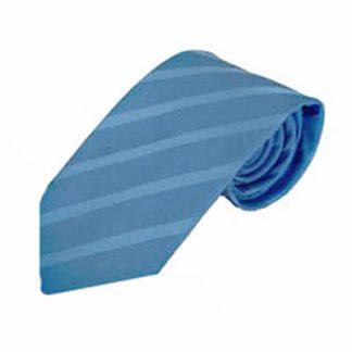 Light Blue Tone on Tone Stripe Men's Tie 8128-0