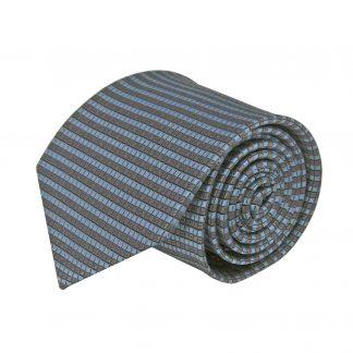 Gray, French Blue Small Square Men's Tie 8577-0
