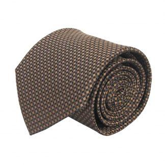 Taupe, Black Small Squares Men's Tie 8950-0