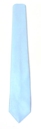 49'' Boys Light Blue Solid Self Tie 9024-0