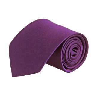 Purple Solid Silk Men's Tie 9631-0
