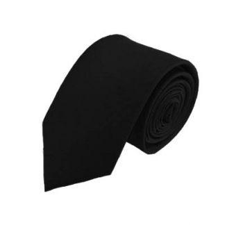 Solid Black Men's Tie