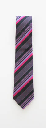"49"" Boy's Black/Fuschia/Purple Stripes Tie 9832-0"