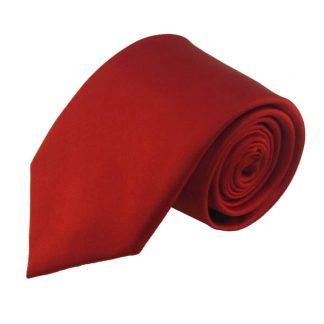 Red Solid Silk Men's Tie 9836