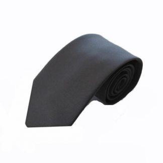Charcoal Gray Solid Men's Tie 9946-0