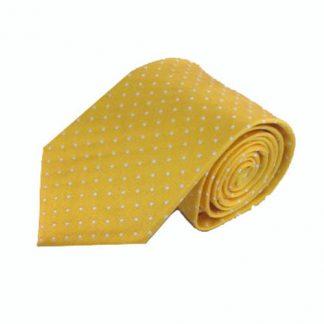 Yellow w/White Dots Men's Tie 10480-0