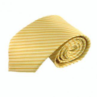 Light Yellow, Gold Yellow Stripe Men's Tie 2175-0