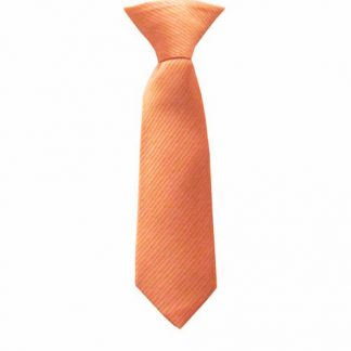"8"" Boy's Clip-On Orange/Salmon Tone on Tone Rectangles Tie 3371-0"