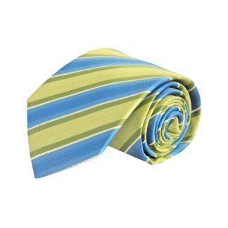 Lime, Blue Stripe Men's Tie 7880-0