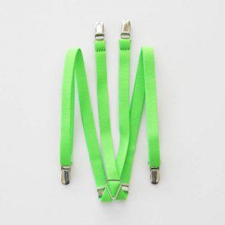 "Florescent Lime 1/2"" Suspenders 0899-0"