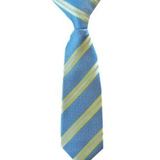 """8"""" Clip-On Blue/Green Stripe Boy's Tie 1848-0"""