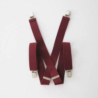 """Burgundy Solid 1.5"""" Suspenders 2046-0"""