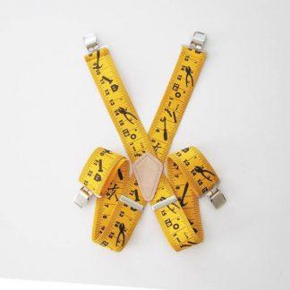 Yellow Tape Measure Suspenders 2059-0