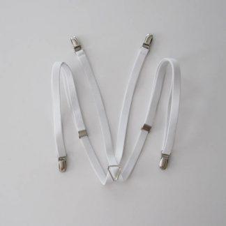 "White Solid 1/2"" Suspenders 5000-0"
