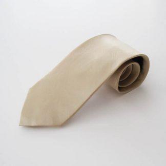 Champaign Cream Solid Silk Men's Tie 4389-0